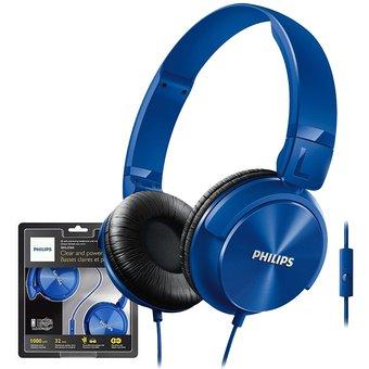 Audifono Dj Philips con Micrófono Integrado – SHL3065BL – Azul 3-electrodomesticos jared