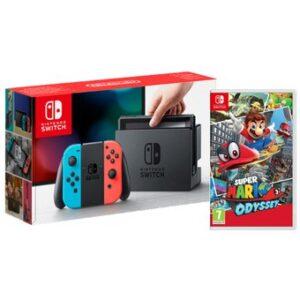 Nintendo-Switch-Neón + Super Mario-Odyssey-electrodomesticos-jared