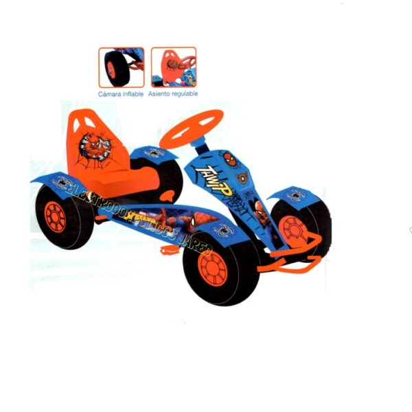 carro a pedal spiderman CPS-18 Electrodomesticos Jared